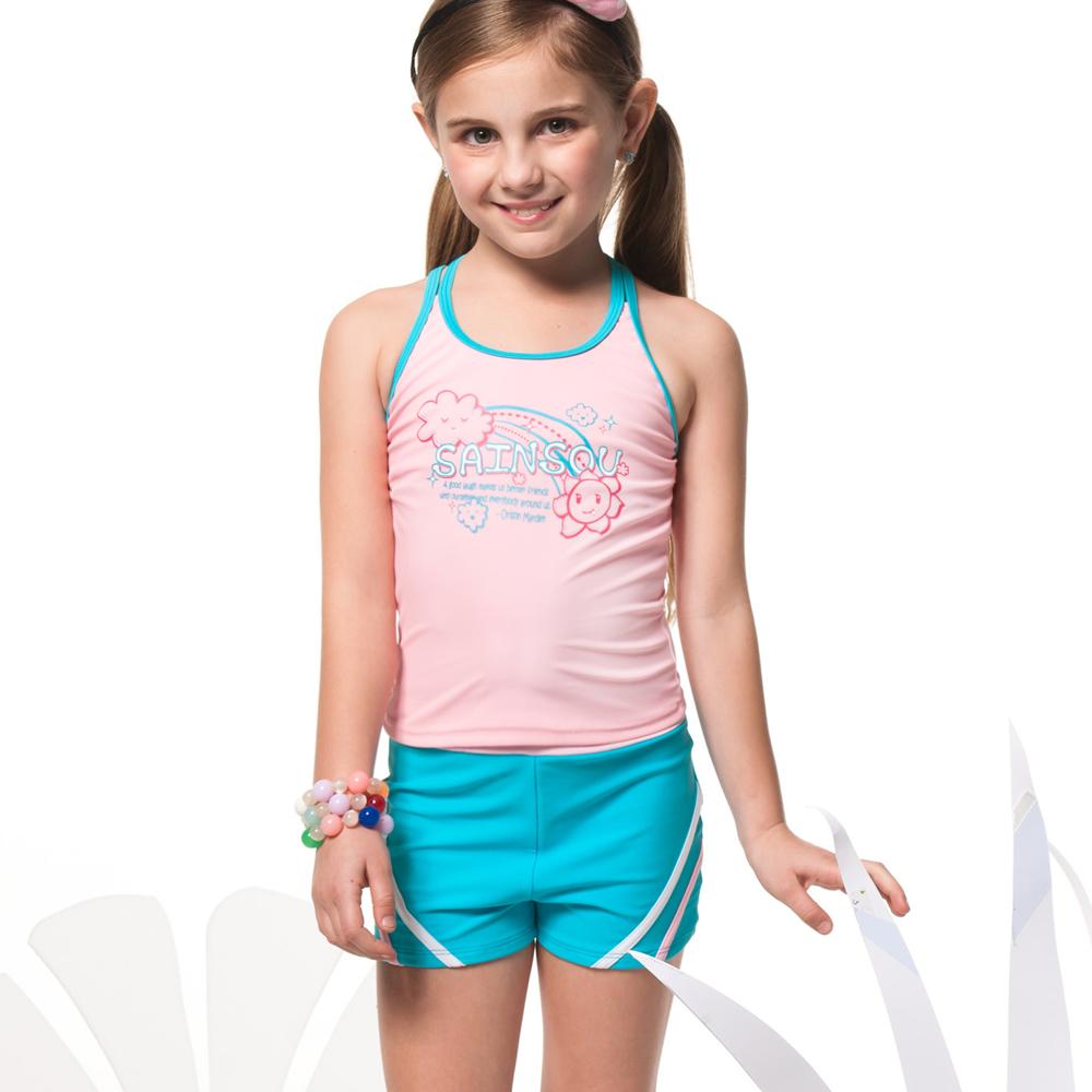 聖手牌 兒童泳裝 粉色兩件式女童泳裝