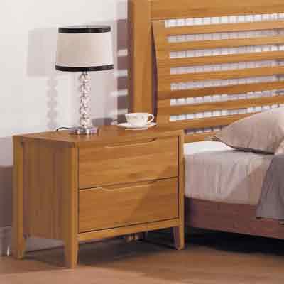 時尚屋 米堤柚木色床頭櫃 寬55.5x深40x高51.8cm
