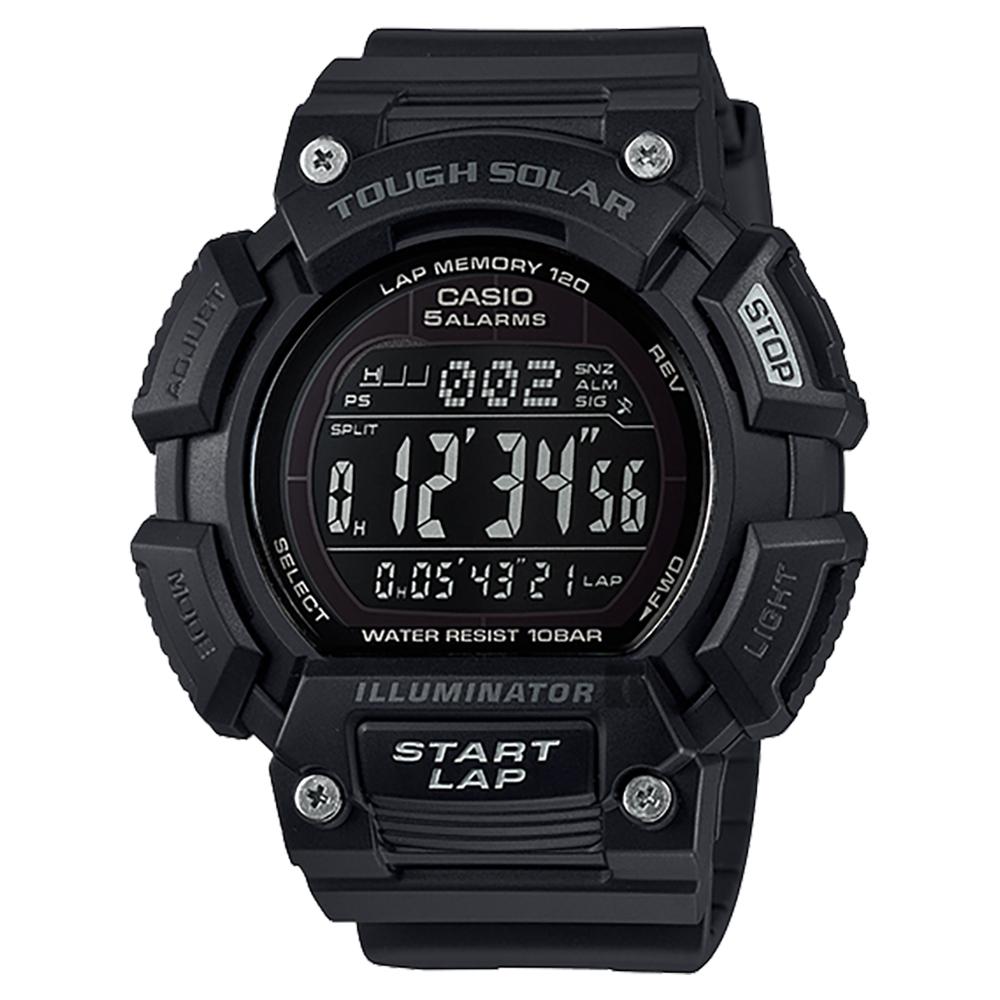 CASIO 卡西歐Solar 太陽能大錶徑運動錶-黑(STL-S110H-1B2DF)