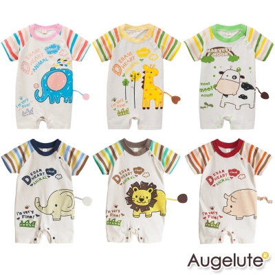 baby童衣 連身衣短袖動物立體尾巴41142