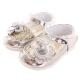 玫瑰 亮蔥 魔鬼氈設計公主鞋 銀金 sh9998