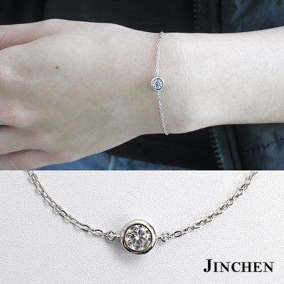JINCHEN 純銀單鑽手鍊