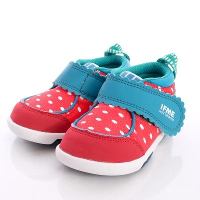 IFME健康機能鞋-俏皮草苺輕量學步款-500225紅(寶寶段)