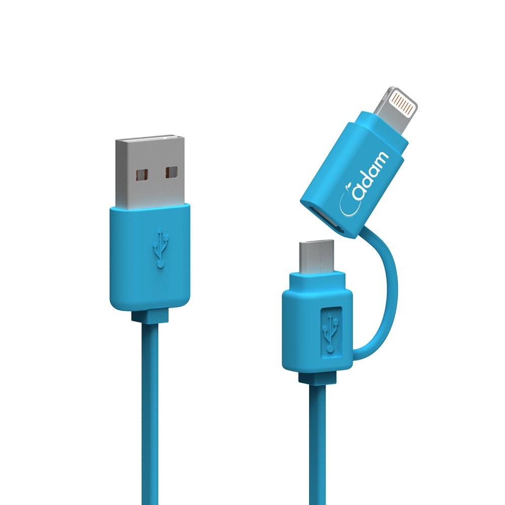 福利品線材 MFi認證 Lightning/MicroUSB 雙用傳輸線 (顏色隨機出貨)