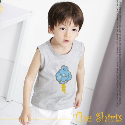 【The Shirts】大力士雲朵T恤背心 (灰色)