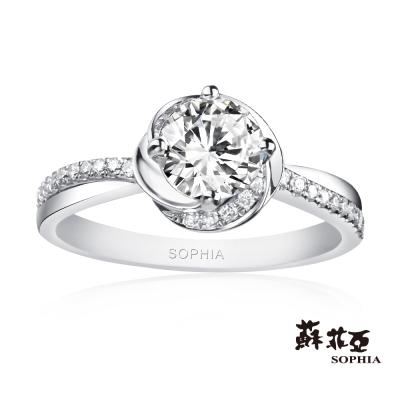 蘇菲亞SOPHIA 鑽戒-幸福相擁 1.00克拉FVS2 3EX鑽石戒指