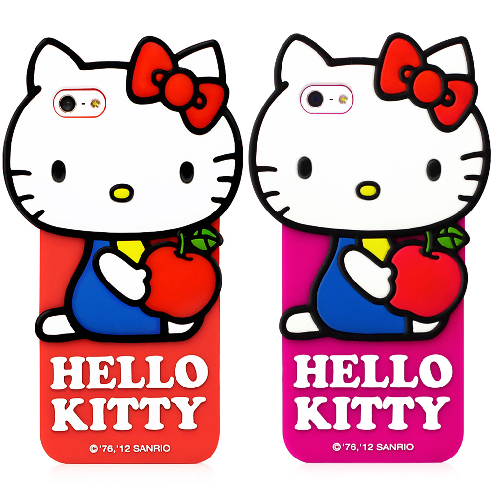 Hello Kitty  IPHONE 5/5S/SE立體造型果凍套-經典系列