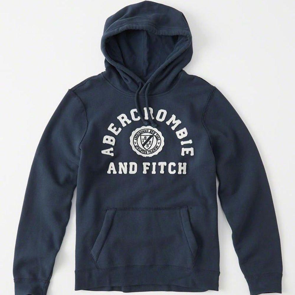 AF a&f Abercrombie & Fitch  帽T 藍色 0179