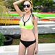 泳衣 運動俏妞 兩件式泳衣(綠M~XL)AngelHoney天使霓裳 product thumbnail 1