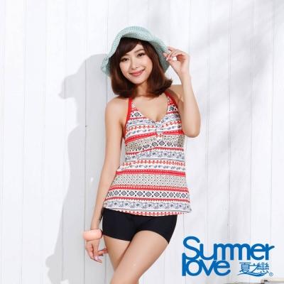 夏之戀SUMMER LOVE 夏日民俗風長版兩件式泳衣