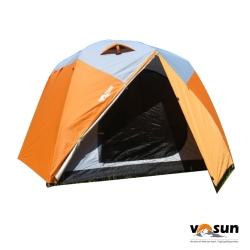【VOSUN】新桔楓 雙前庭六人防水四季型露營帳篷