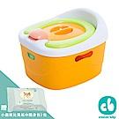 Creative Baby-多功能三合一學習軟墊馬桶(橘色)