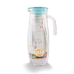 樂扣樂扣 AQUA系列沁涼玻璃水壺1.1L-薄荷藍(快)