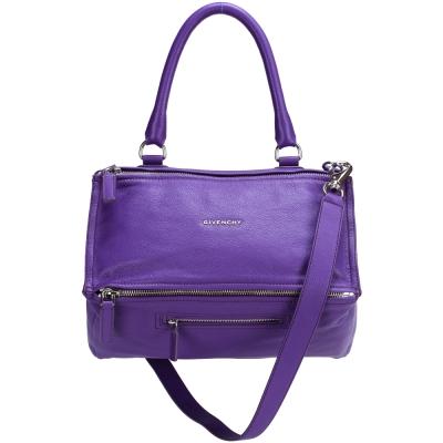 GIVENCHY Pandora 山羊皮兩用提包(紫色/中)