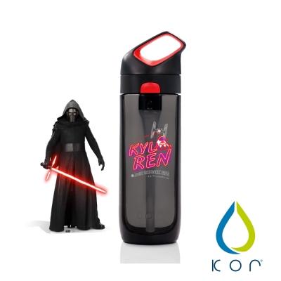 美國KOR water Nava Sport夜光星戰瓶650ml(凱羅忍/黑紅色)