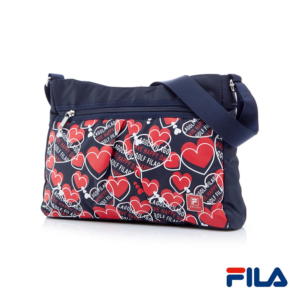 FILA心漾優雅肩側背兩用包(愛心圖騰)BMQ-5402-NV