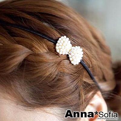 AnnaSofia-珠彩小巧結款-韓式細髮箍