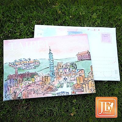 JB DESIGN-文創畫布明信片-609_春意台北