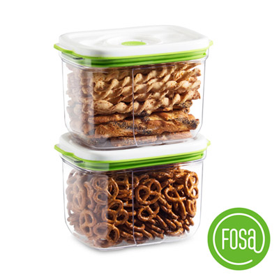 FOSA真鮮寶方形智能真空保鮮盒2300ml(2入)HFA22300