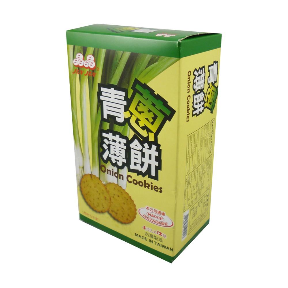 晶晶 青蔥薄餅(4片x12包/盒)