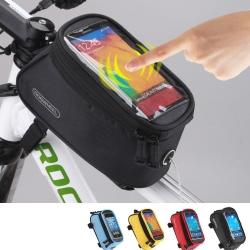 PUSH!自行車用品 2015款加大碼自行車前置物袋手機袋上管袋工具袋可裝5.5吋屏