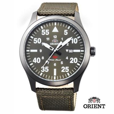 ORIENT 東方錶 SP 系列 飛行運動石英錶-綠色/42mm