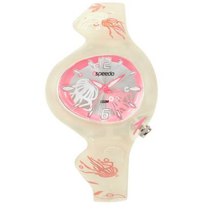 Speedo 綺麗變色兒童腕錶-粉紅/37mm