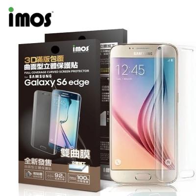 iMOS Samsung S6 Edge 3D 滿版雙曲膜保護貼
