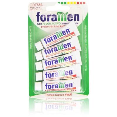 西班牙Foramen 旅行小牙膏5條5ml