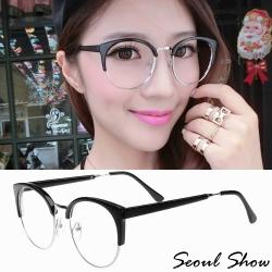 Seoul Show 復古眉框平光眼鏡 29417