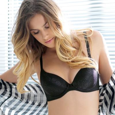 黛安芬-魔術胸罩A-C罩杯內衣-黑