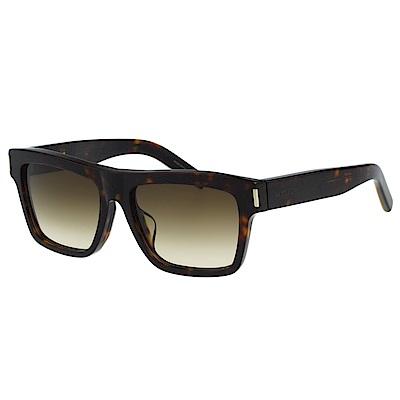 Saint Laurent Paris 帥氣方框 太陽眼鏡(琥珀色)BOLD5F