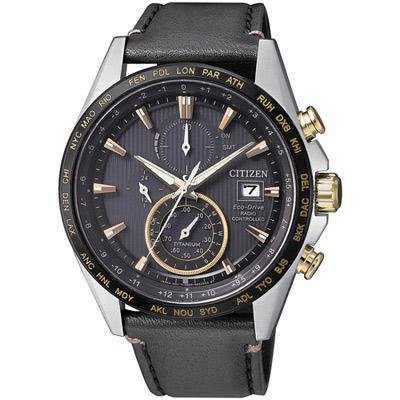 星辰CITIZEN GET'S系列鈦金紳士電波計時腕錶(AT8158-14H)-42mm