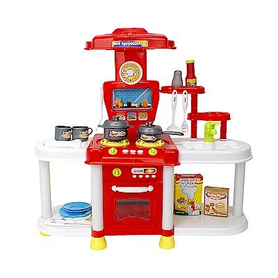 家家酒玩具 聲光廚具組 紅色 689