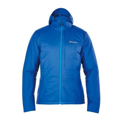 【Berghaus貝豪斯】男款溫度調節超輕高科技棉保暖連帽外套H22MU3藍