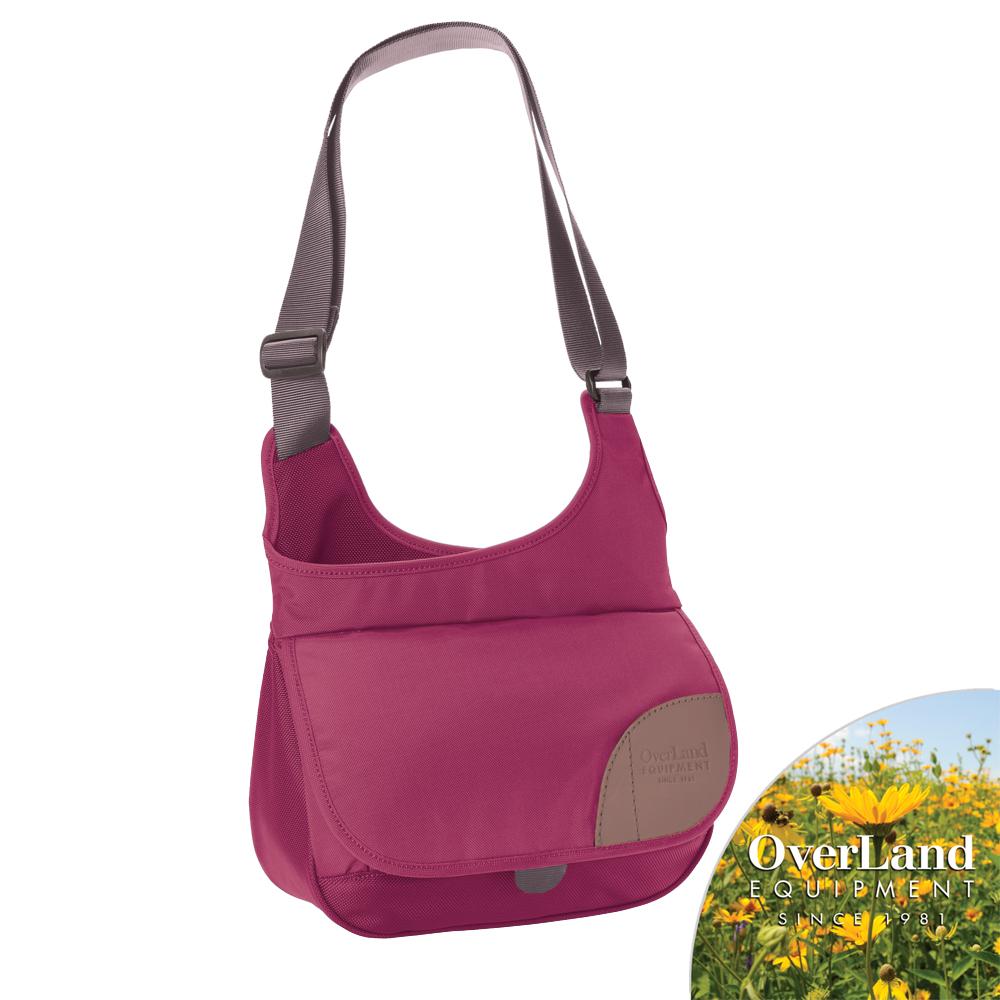 【OverLand】Auburn側背包-紫紅色
