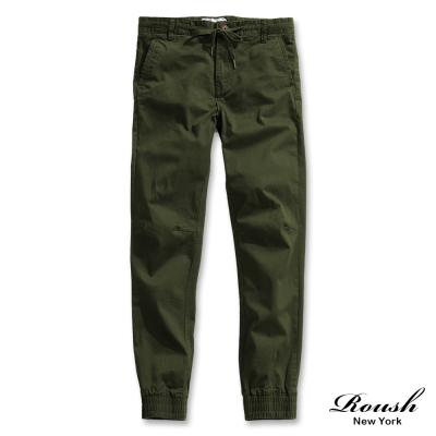 ROUSH 抽繩設計美式縮口長褲褲