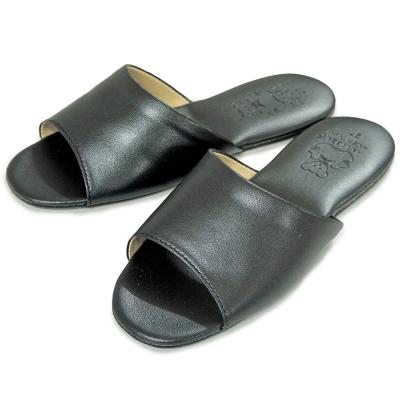 《布安於室》熊熊室內皮拖鞋-黑色(2雙入)