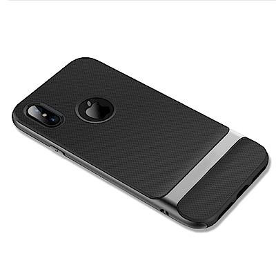 防摔專家 iPhoneX TPU+PC雙層邊框保護套(藏青/汰灰)