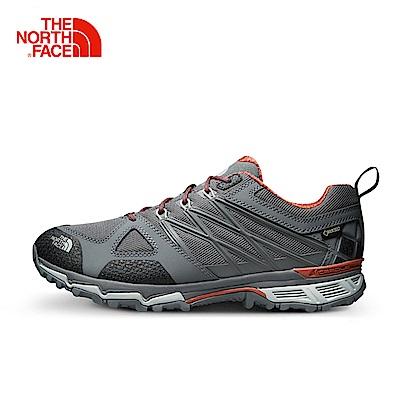 The North Face北面男款灰色排汗登山徒步鞋