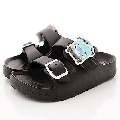 TAYO小巴士童鞋 超輕量雙絆帶拖鞋款 EI4704黑(中小童段)