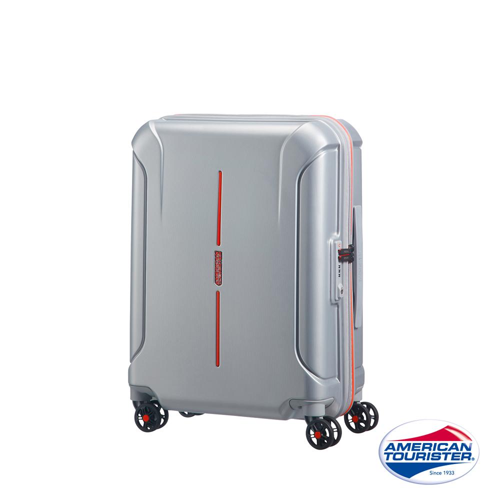 AT美國旅行者 20吋Technum防刮飛機輪TSA海關鎖行李箱(銀)