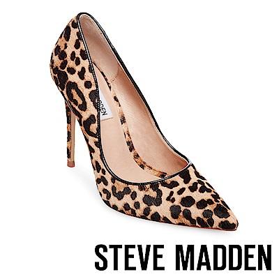 STEVE MADDEN-DAISIE-L-素面流線型尖頭中跟鞋-豹紋
