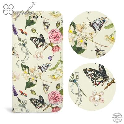 apbs iPhone8/7/6s/6 Plus 5.5吋施華水晶鑽皮套-蝴蝶