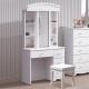 Boden-艾莎法式2.7尺化妝桌/鏡台(贈化妝椅)-80x43x173cm product thumbnail 1