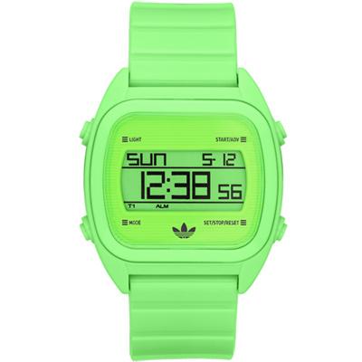 adidas 三葉數位電子錶-螢光綠38mm