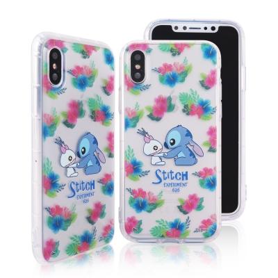 Disney迪士尼iPhone X花花世界防摔氣墊空壓保護套 史迪奇小金
