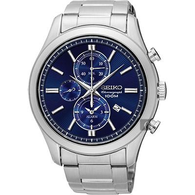 SEIKO精工 CS 紳士品味計時腕錶(SNAF65P1)-藍/43mm