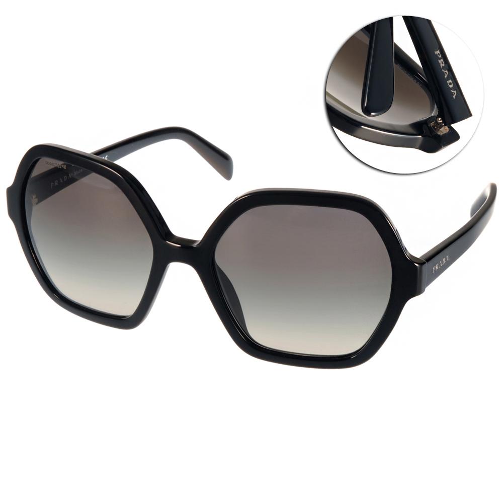 PRADA太陽眼鏡 個性簡約款/黑#PR06S 1AB0A7