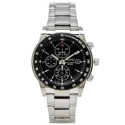 SEIKO 精工競速三眼百米計時腕錶(SNDC 99 P 1 )-黑/ 41 mm
